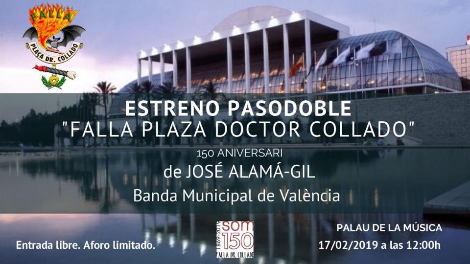 Presentat el pasdoble «Falla Plaça Doctor Collado»